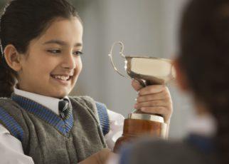 confident child in exams